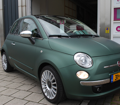 car wrap fiat 500 pine green metallic. Black Bedroom Furniture Sets. Home Design Ideas