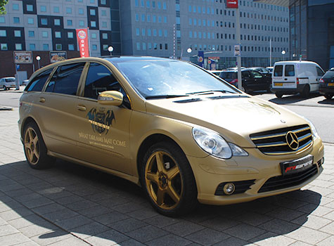 Mercedes R320 Wrapped in Oracal 970-091 Gold!