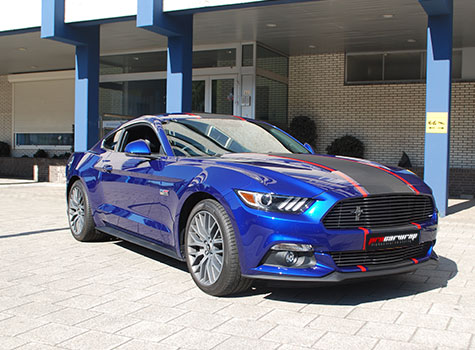 Ford Mustang Striping 3M Carbon & 3M Red