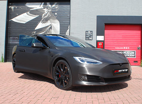Tesla model S – Wrapped in Avery brushed steel and many more!