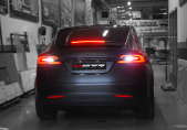 Tesla Model X wrap satin black